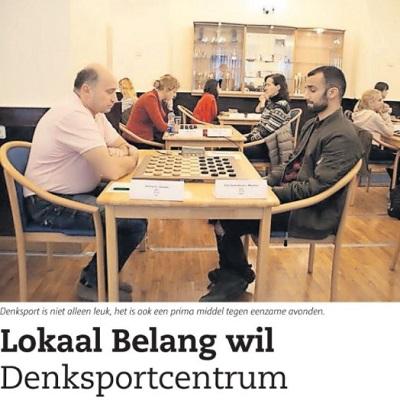 Lokaal Belang pleit voor een Denksportcentrum voor jong en oud